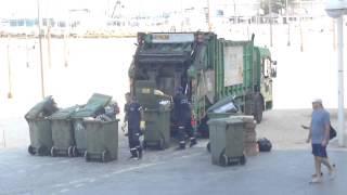 Tel aviv beach garbage truck