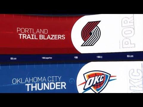 Oklahoma City Thunder vs Portland Trailblazers Game Recap | 1/22/19 | NBA