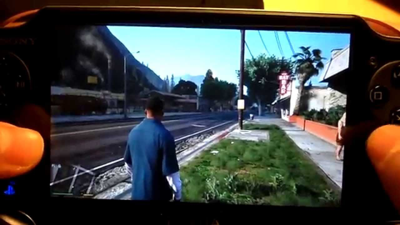Playstation Vita Gta 5 : Grand theft auto v remote play ps vita gameplay youtube