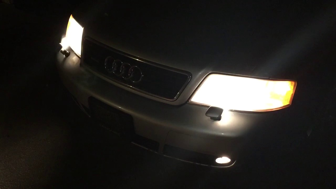 2001 audi a6 avant headlight washer operation [ 1280 x 720 Pixel ]