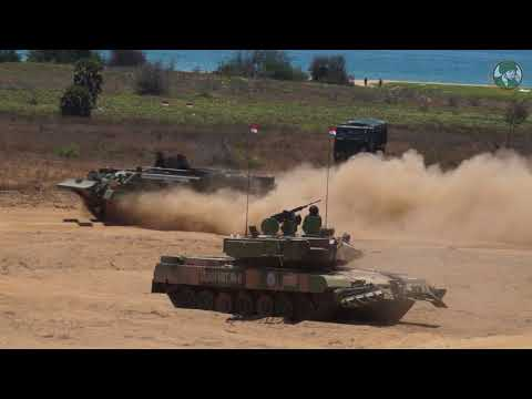 DefExpo 2018 live demonstration armored aircraft defense and security exhibition Chennai India