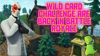 Fortnite Pro-Noob || Wild card challenges are back || Awesome noobish fun!
