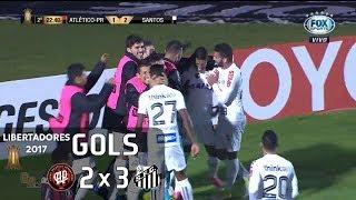Gols - Atlético Paranaense 2 x 3 Santos - Libertadores 2017