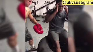 Deji and Ksi in the gym Video