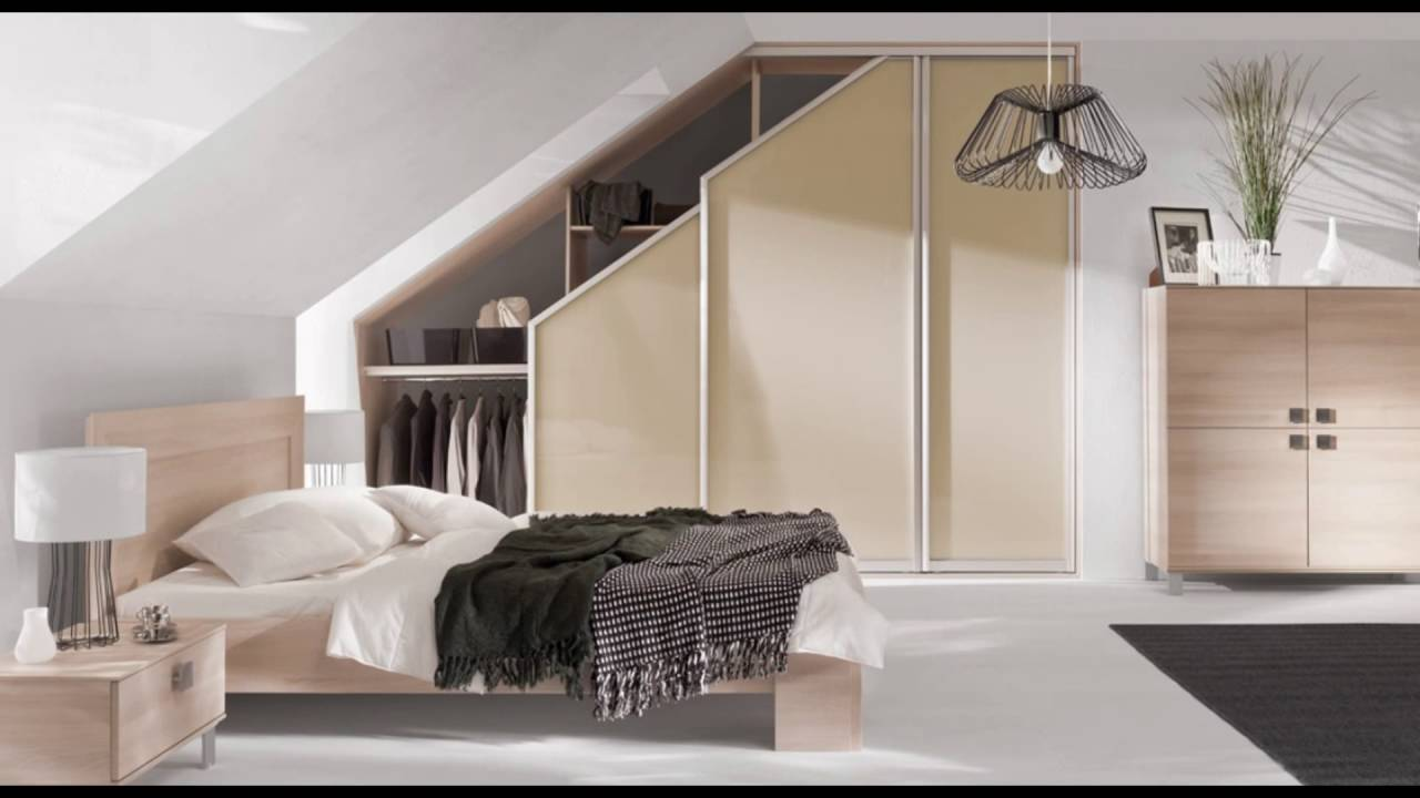 sloped ceiling wardrobe pull out - YouTube