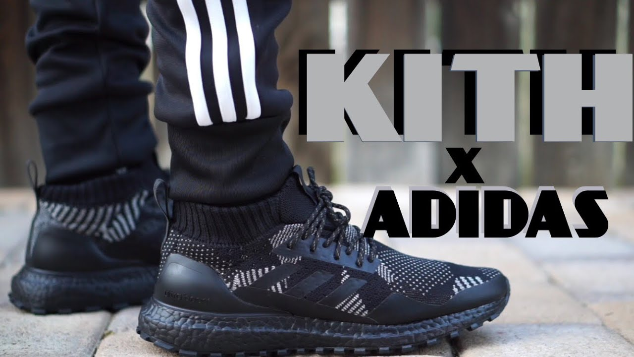 8770e311bdc47 Kith X Nonnative X Adidas Ultra Boost atr mid on feet - YouTube