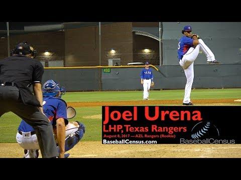 Joel Urena, LHP, Texas Rangers — August 8, 2017