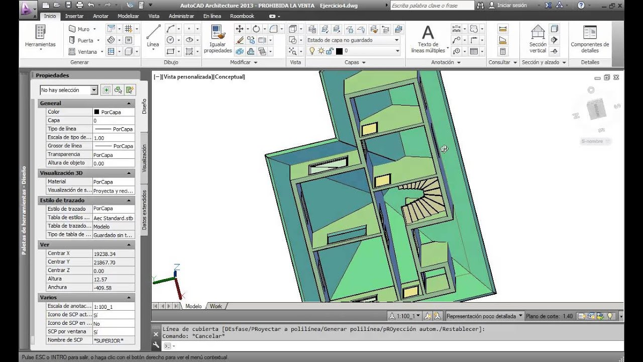 AutoCAD Architecture: Cubiertas - YouTube
