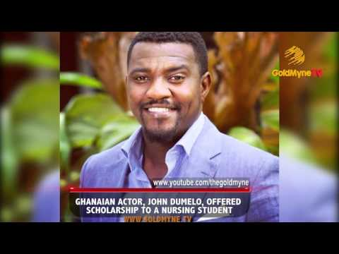 GHANAIAN ACTOR, JOHN DUMELO, OFFERED SCHOLARSHIP TO A NURSING STUDENT