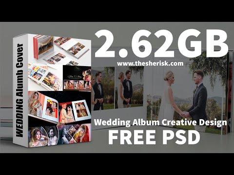 12x36 Creative Wedding Album Design Free Download In PSD Files  English   Photoshop Tutorial 