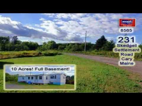 Property For Sale In Cary Plantation Maine | 10 Acres, Mobile Home | MOOERS  #8565