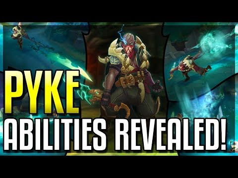 PYKE ALL ABILITIES REVEALED!! The Bloodharbor Ripper! New Assassin Champion - League of Legends thumbnail