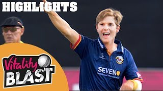Extraordinary Match TIED Off The Last Ball | Essex v Hampshire | Vitality Blast 2018 - Highlights