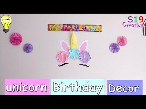 DIY Unicorn  birthday party decoration ideas | Easy paper craft decor ideas | wall decor ideas