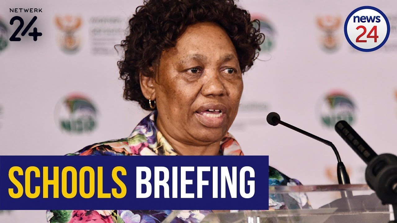 Watch Live Reopening Of Schools Angie Motshekga To Give Update On Preparations Youtube