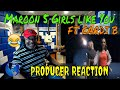Maroon 5   Girls Like You ft  Cardi B Official Music Video - Producer Reaction