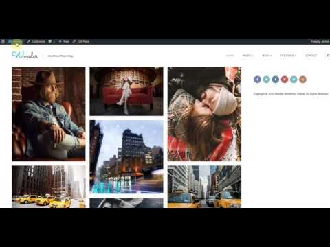 Photo Blog WordPress Theme - Wonder Setup