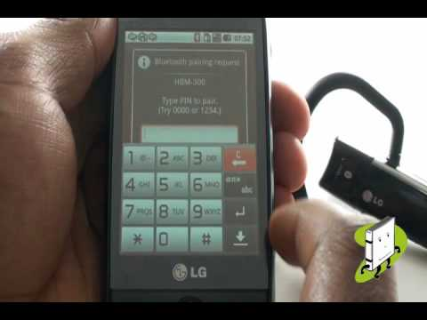 Connect your Bluetooth headset LG GW620 | The Human Manual