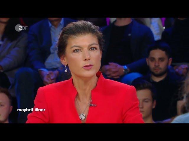Sahra Wagenknecht am 19.  September 2019 bei Maybrit Illner im ZDF
