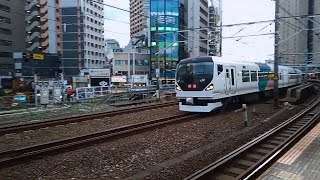 中央線特急E257系0番台11両編成 回送電車 飯田橋(JB-16)通過