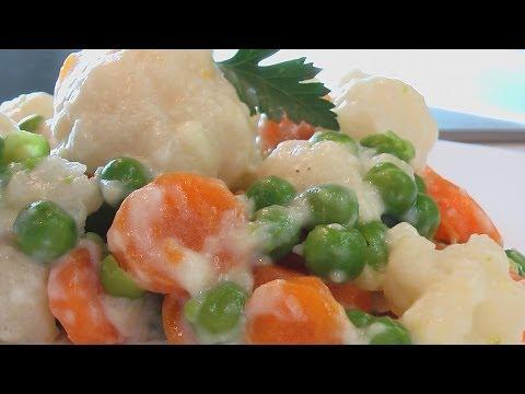 Овощи в молочном соусе видео рецепт. Книга о вкусной и здоровой пище