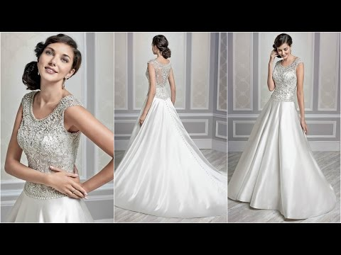 Silver Wedding Dresses | Ball Gown Wedding Dresses | Satin W