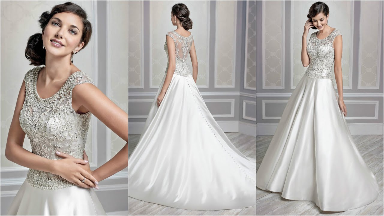 Silver Wedding Dresses | Ball Gown Wedding Dresses | Satin ...