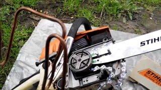Китайська бензопила. Встановлення оригінальної шини і ланцюга від STIHL