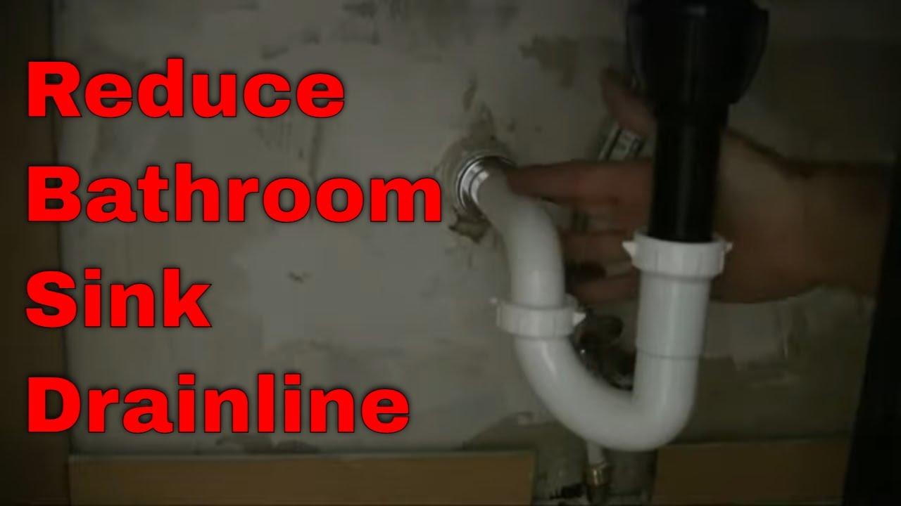 how to reduce a bathroom sink drainline diy plumbing videos