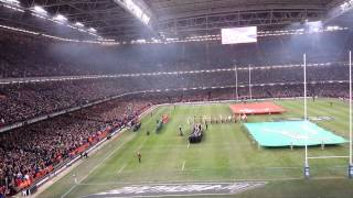 Greatest national anthem - Old Land of My Fathers sung at Millenium Stadium