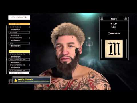 Nba 2k16| Chesser Face Tattoo Tutorial!!!