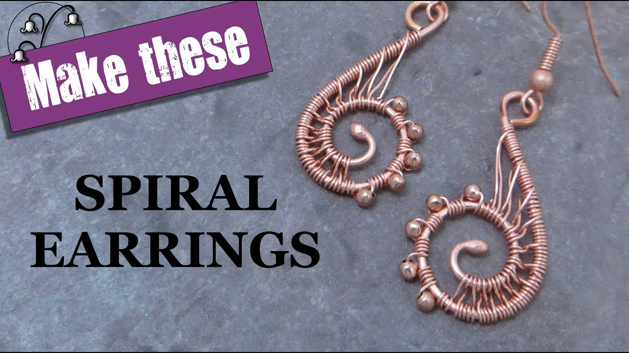 63182a0319d8c6 Wire Wrapped Spiral Earrings - YouTube