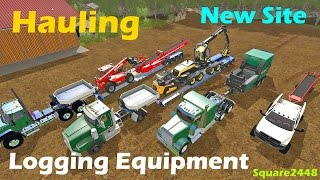 Farming Simulator 2017 - Hauling Logging Equipment To New Site