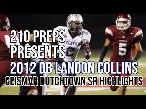 DB Landon Collins #2 *SIGNED LOI TO ALABAMA* Geismar Dutchtown (SR Highlights-5 GAMES)