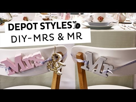 Depot Styles Diy Hochzeitsdeko Mrs Mr F R Die