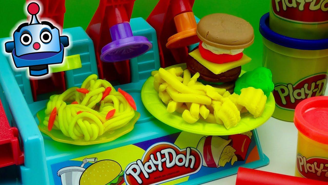 Play doh hamburgueser a burguer builder juguetes de play doh youtube - Cocina play doh ...