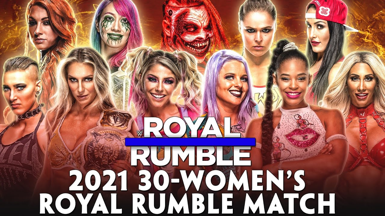 2021 30-Women's Royal Rumble Match - Entry Predictions - YouTube