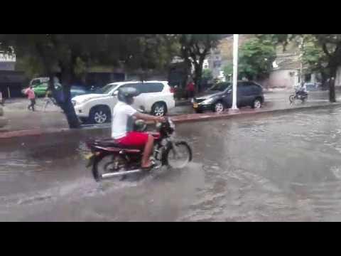 Reporte desde avenida Santa Rita tras aguacero
