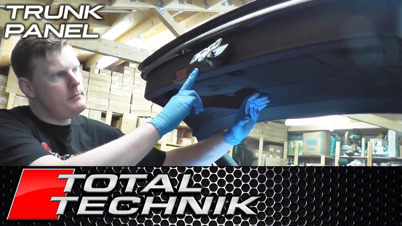 How To Remove Tailgate Boot Main Trim Panel Audi A4 S4