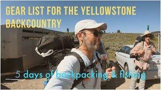 Gear List for a Yellowstone Backcountry Summer