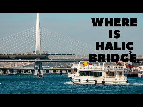 Where is Halic Bridge, Istanbul Turkey?