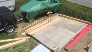 Helping Dad Build A Rv Shelter Part 2