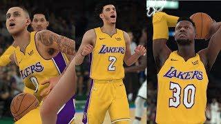 NBA 2K18 Brandon Ingram,Julius Randle & Lonzo Ball SiCK! Highlights vs Bucks 2017.11.11