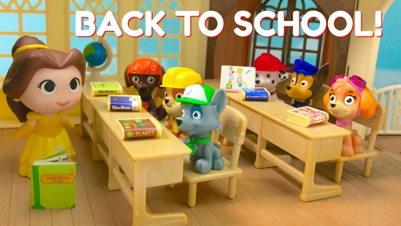 go back to school with paw patrol first day teacher princess belle youtube. Black Bedroom Furniture Sets. Home Design Ideas