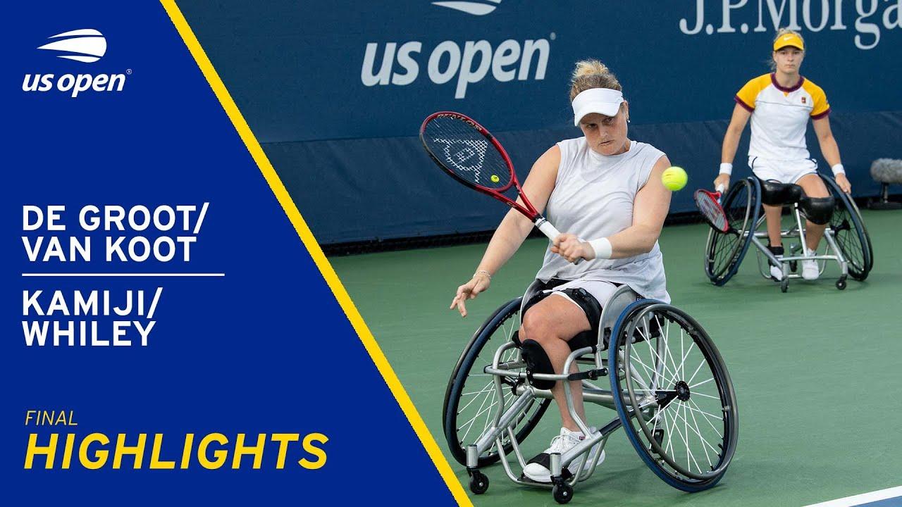 Wheelchair Women's Doubles Final | De Groot/Van Koot vs Kamiji/Whiley Highlights | 2021 US Open