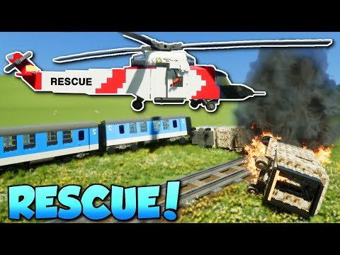 LEGO RESCUE CHALLENGE! - Brick Rigs Gameplay - Multiplayer Rescue Challenge thumbnail