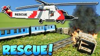 LEGO RESCUE CHALLENGE! - Brick Rigs Gameplay - Multiplayer Rescue Challenge