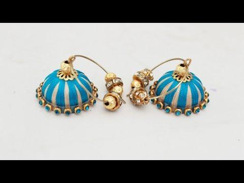 How to make Chandbali Silk Thread Earrings || Tutorial || Zooltv