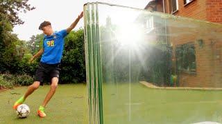 Can a Football Break Bullet Proof Glass? - (FOOTBALL VS)