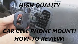REVIEW Attom Tech Car vent Cell phone Holder Mount Stand -best out there!